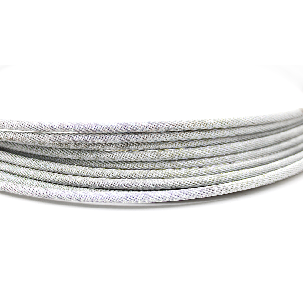 China factory multi color galvanized zinc coated steel wire cable for crane wholesale