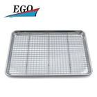 Aluminum baking pan with cooling rack set