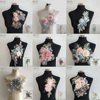 3D Embroidery Lace Collar Neckline Venise Applique Sequins Sewing DIY Trim Clothing Accessories Scrapbooking Collar Lace Neck