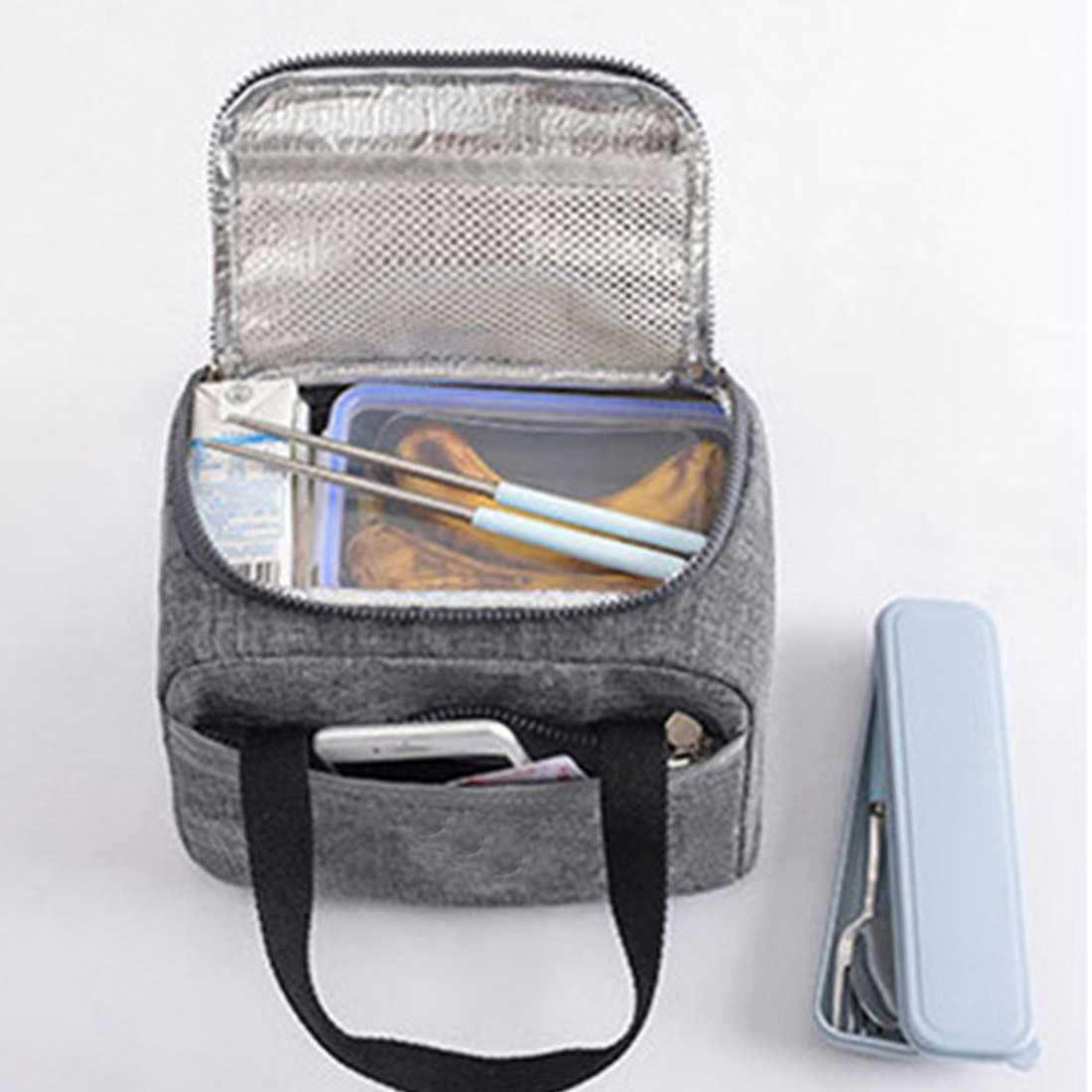 product-2020 Portable New Thermal Insulated Lunch Box Tote Cooler Handbag Bento Pouch Dinner Contain-2