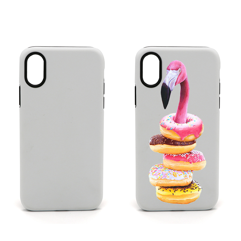 XINGE Heat Press 3D TPU PC Blank Sublimation Rubber Mobile Phone Case <strong>Cover</strong> For Iphone 7 8 X Xr Xs Max