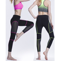 Free shipping newest design breathable and durable mesh yoga leggings women