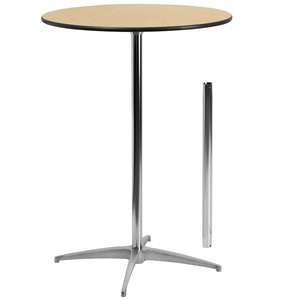 Hotel durable simple round laminate top highly metal leg wedding event cocktail pub table stand coffee bar table for event