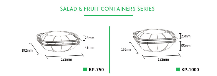 Supermarket wholesale Octagon fruit package disposable plastic box