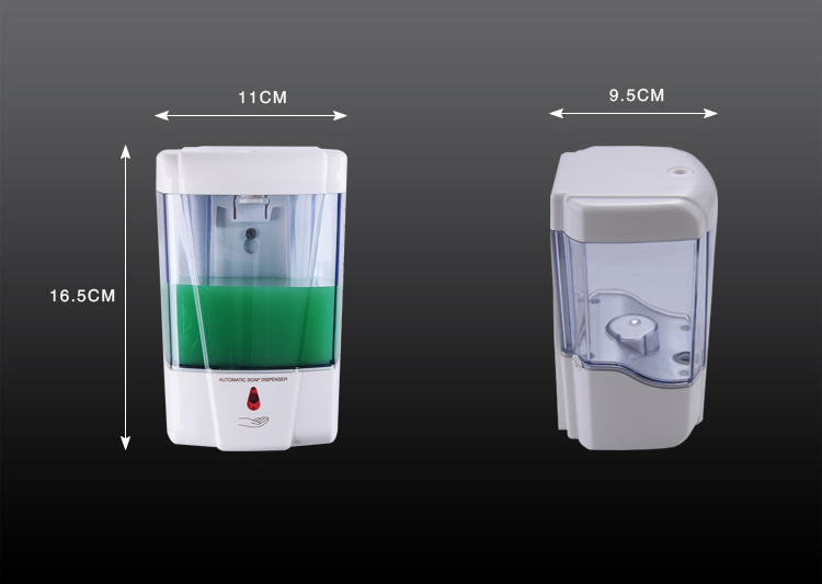 Commercial 600ML bulk capacity touch free public automatic hand sanitizer dispenser with sensor