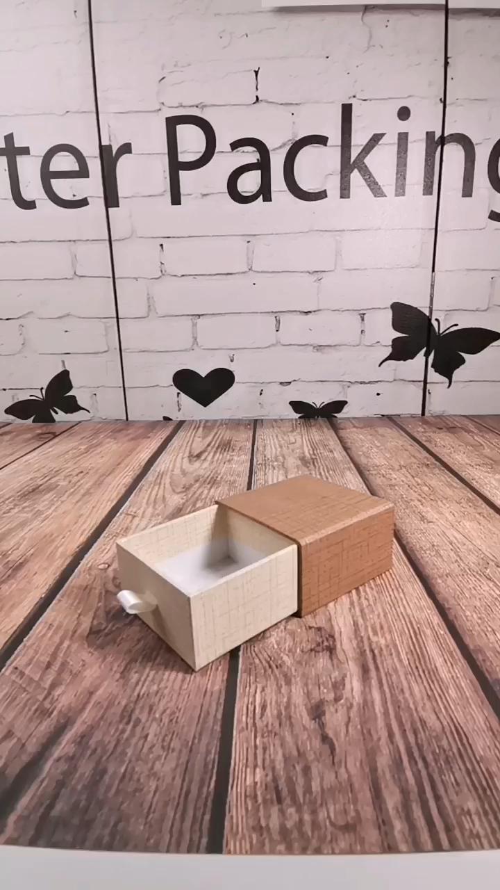 Özel Logo çekmece tarzı kağıt hediye ambalaj kutusu ile kese