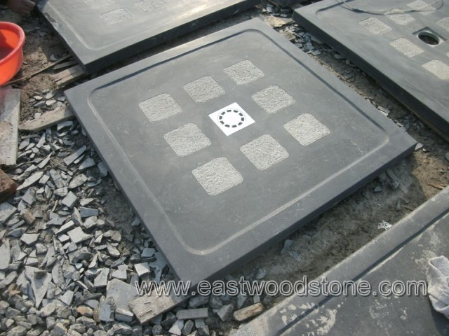 blue bluestone shower tray