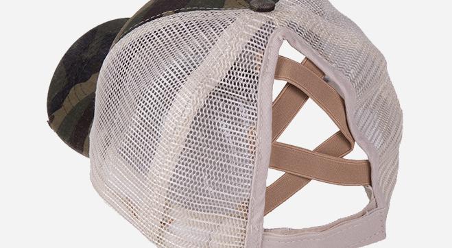 Новая мода крест-накрест шляпа промытая сетка Женская бейсбольная шляпа папа конский хвост шляпа для женщин