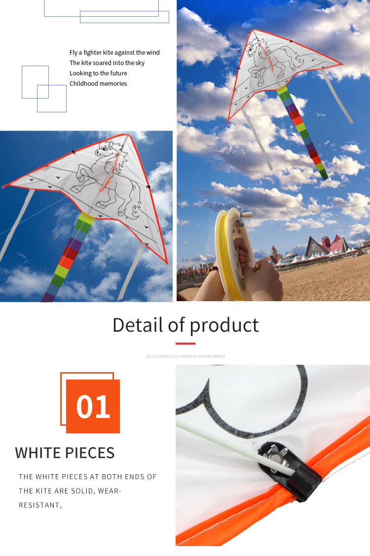 Wholesale Color can be customized  Children's educational toys drawing blank DIY kite