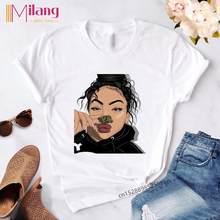 Готический летний винтажный Топ, мягкая одежда для девочек, эстетический стиль, забавная футболка с графикой, Harajuku, модные футболки, женская...(Китай)