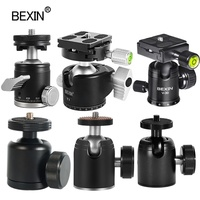 professional aluminum 360 degree swivel ball head camera stand monopod tripod adjustable ball head clamp camera tripod head