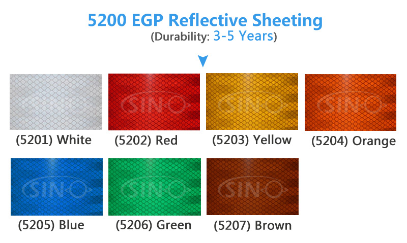 SINO Engineering Grade Honeycomb Pattern Reflective Sheeting Vinyl