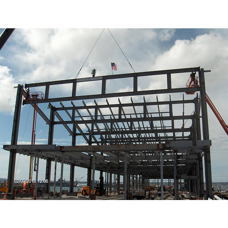 Steel Structure Framed Commercial Office Building, Structural Steel Truss Prefab Construction with Drawing