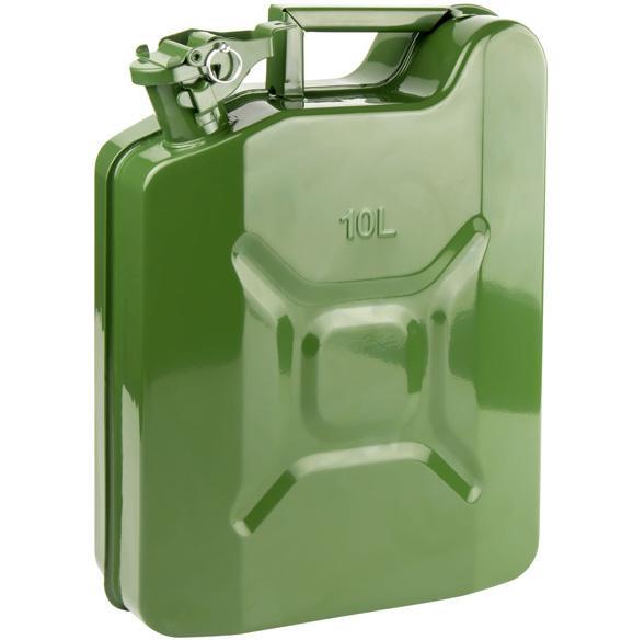 Tanica in acciaio INOX lucidato carburante benzina diesel olio acqua 10L litri Ltr