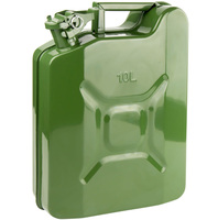 America / Europe 10L Military Jerry Can Metal Fuel Tank Diesel Petrol Carrier