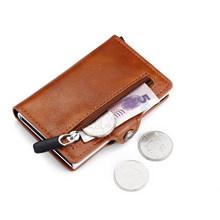 BISI GORO Новый 2020 короткий RFID блокирующий кошелек для карт из искусственной кожи держатель для карт сумка для денег безопасный многофункциона...(Китай)