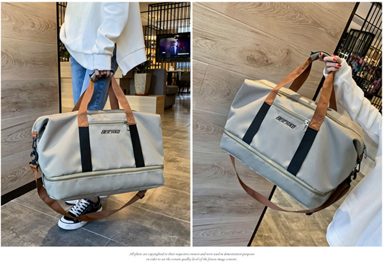 With Shoe Compartment Holdall Wet Dry Pocket Waterproof Travel Tote Bag