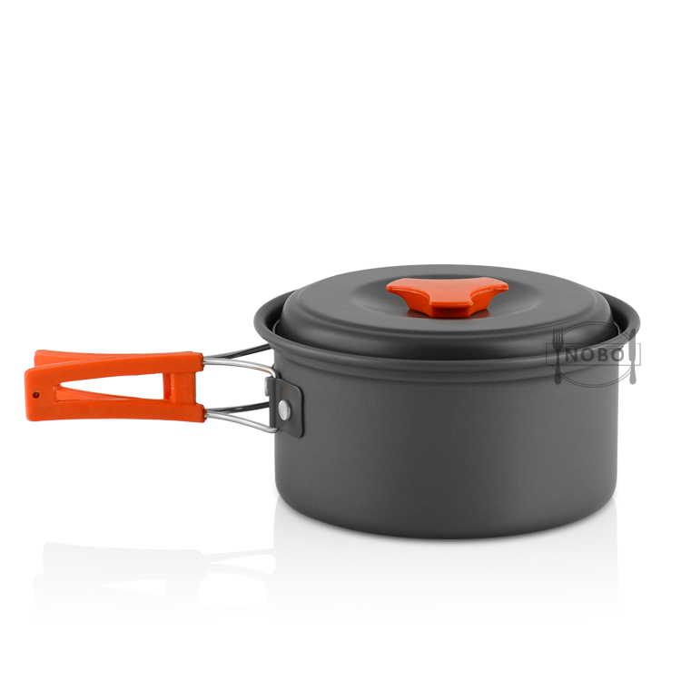 Lightweight Outdoor Mess Kit Pot Pan Bowls Backpacking Anodized Aluminum Portable Camping Cookware Set