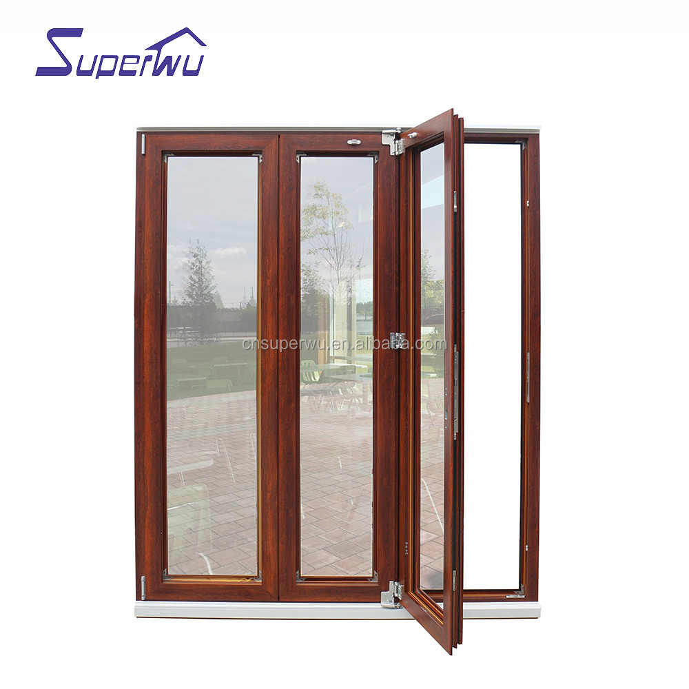 Nafs American Standard Aluminum Glass Door/folding Door System With Accordion Fly Screen