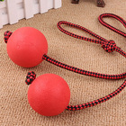 Rubber ball pet toy elastic ball leather ball pet toy for dog training