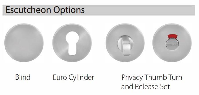 Escutcheon Options of EN1906 Grade 4 door handle lever set