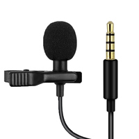 Headphone jack clip microphone lavalier Portable Lapel Type Wired Singing Microphone With Clip recording microphone