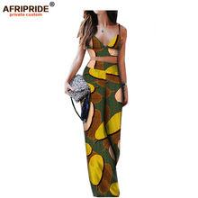 Комплект из 2 предметов в африканском стиле для женщин, укороченный топ без рукавов и брюки из Анкары, комплекты Дашики, пикантная праздничн...(Китай)