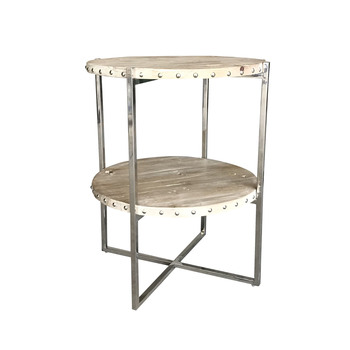 New design stainless steel chrome round side end table