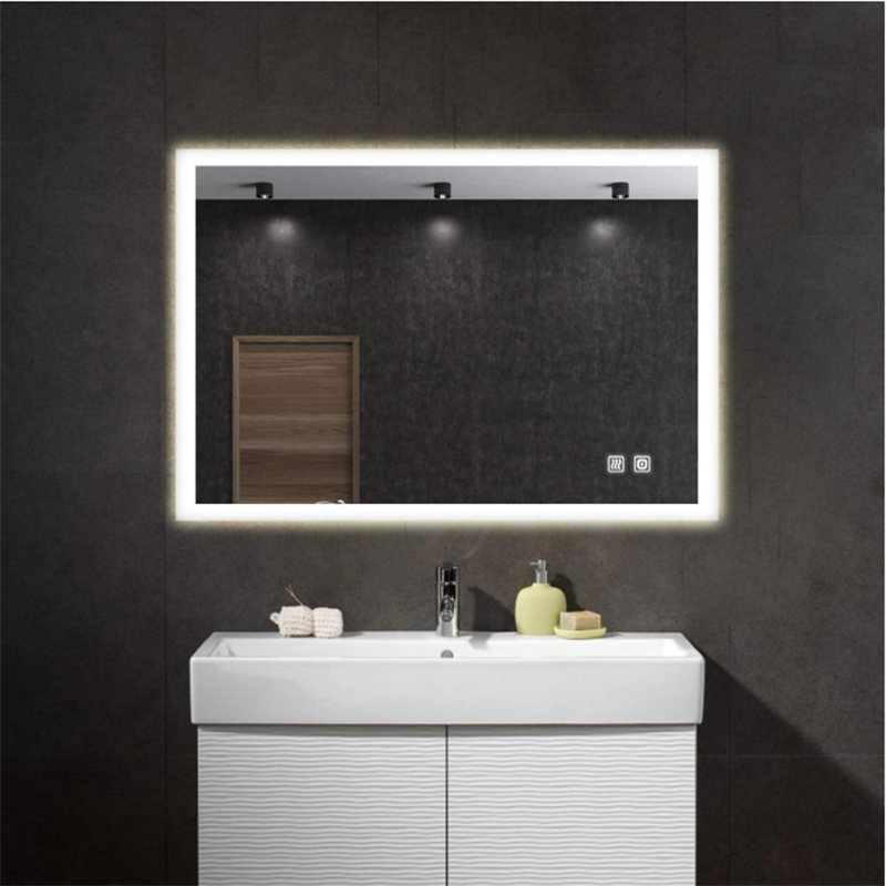 High Quality Fog Free Led Wall Smart Bath Makeup Mirror Light Android Barber Shop Decor Mirror For Bath