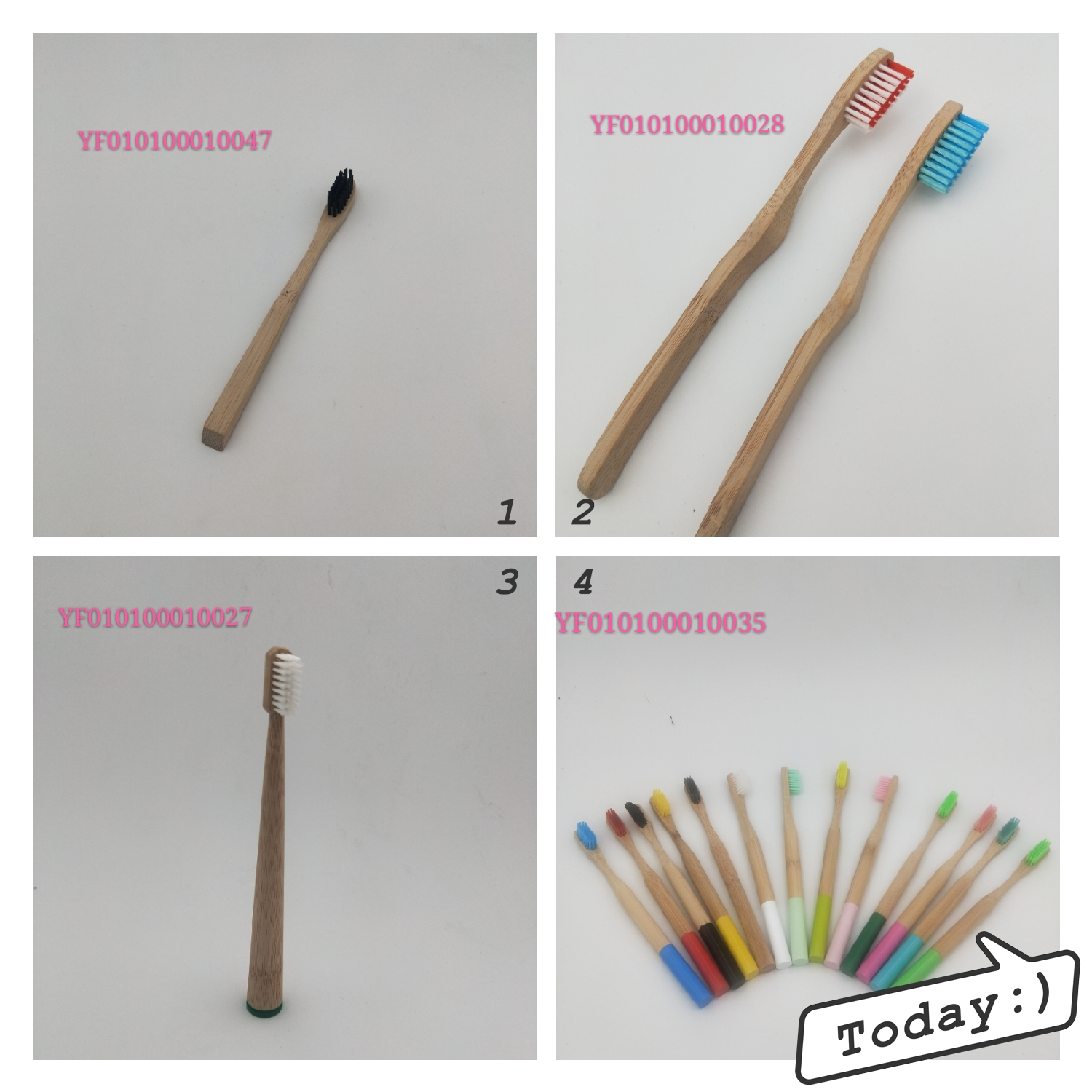 Eco friendly Natural baby Bamboo Toothbrush holder