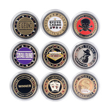 <span class=keywords><strong>Poker</strong></span> Kaarten Guard Protector Metalen Token Coin & Plastic Cover Pokerstar Metalen Texas <span class=keywords><strong>Poker</strong></span> Chip Knop Dealer ALLE IN GROTE /KLEINE Blind