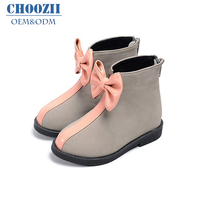 Choozi wholesale children toddler boots girl shoes with bowknot