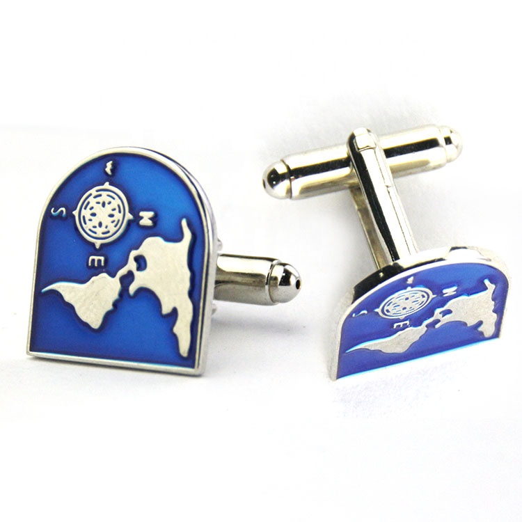 Hot Sale Promotional high quality custom enamel horse racing round sports cufflinks