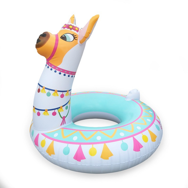 new design adult pvc inflatable lama/alpaca swim ring