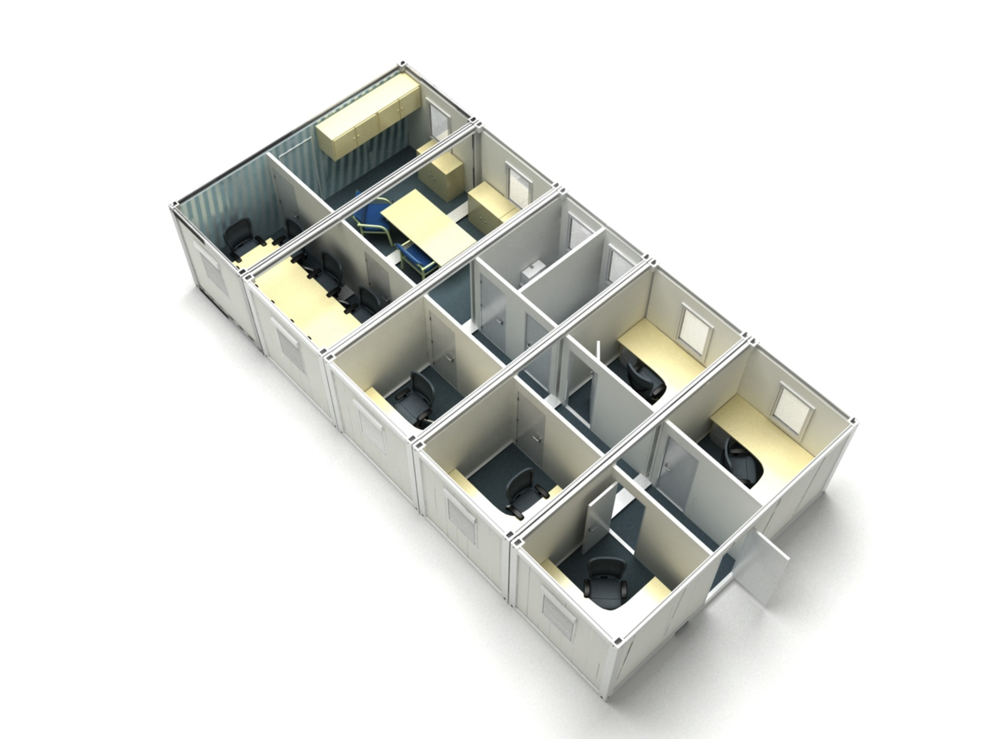 Подгонянный простой установки современный роскошный дом контейнера
