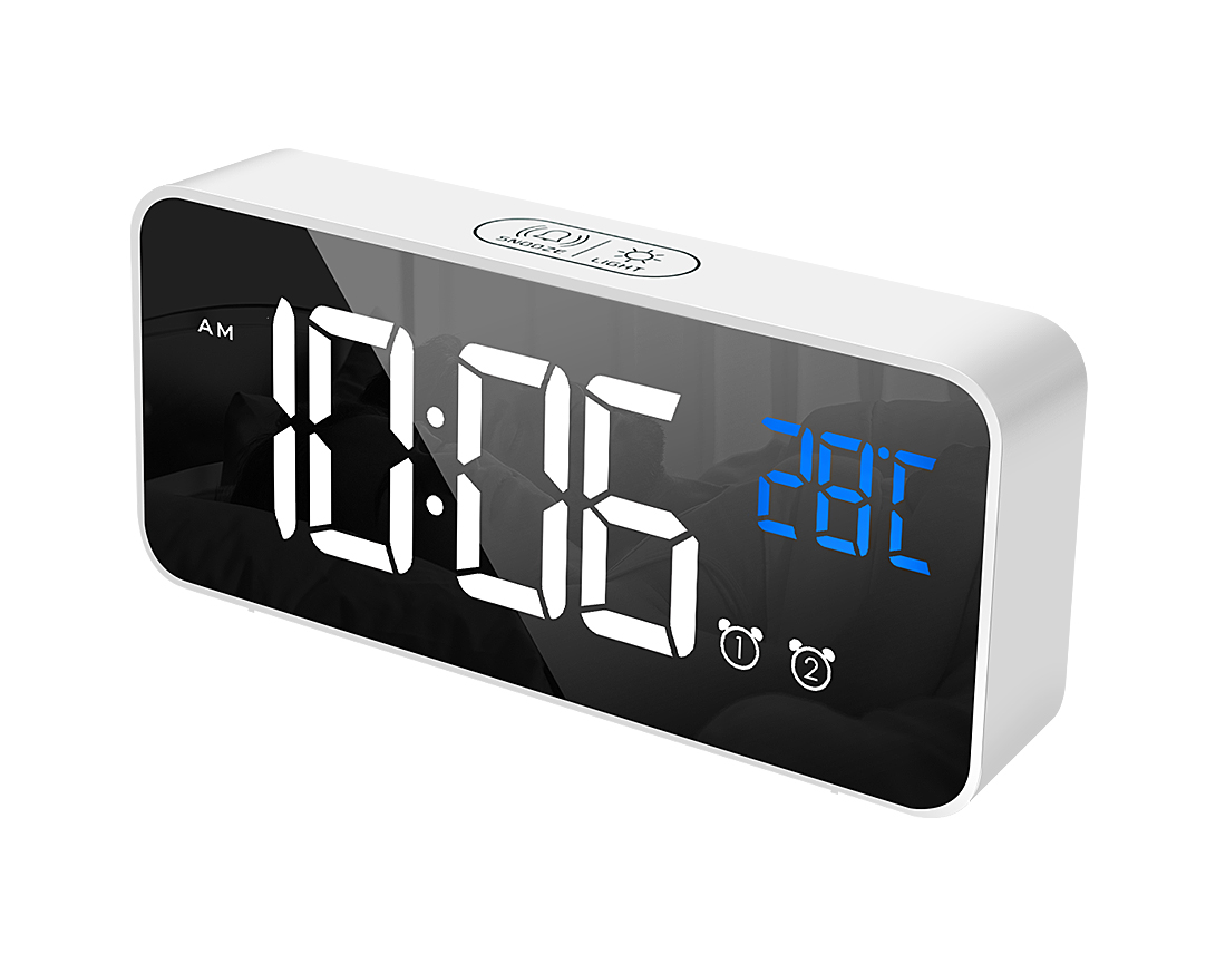 Electronic table clock hotel alarm clock Nature sounds LED digital time display alarm clock for hotel