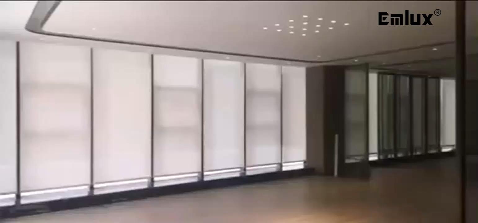 Полиэстер моторизованные роликовые шторы для окна