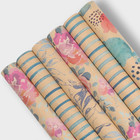 Ink printed gift kraft wrapping paper for flowers printing wrapping