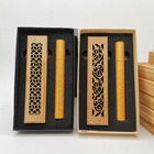 CHEAP Bamboo Incense Burner Hand Incense Holder Carving Hollow Stick Box Lying Censer Home Decor