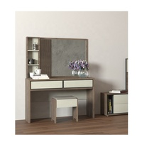 High Quality MDF Makeup Vanity Table Set Wood Dressing Table With Mirror