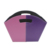 High quality pu leather christmas gift basket Contrast Color fruit basket with handle