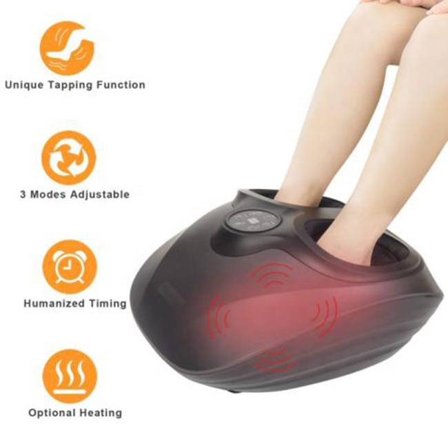 CE RoHS Air compression Foot Massager Vibrating Foot massager Massage Feet Electric Foot Massager with Heating