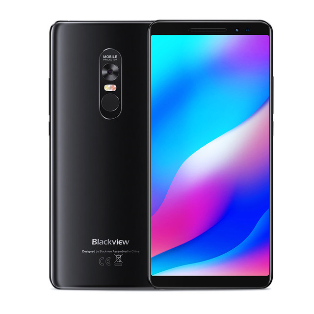 Newest Blackview <strong>MAX</strong> 1 4680mAh Android 8.1 Mini Projector Portable Home Theater 6GB+64GB NFC OTG LTE GPS 6.01'' Max1 Smartphone