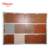 Wood wall paper mirror hanging