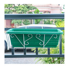 New Plant Flower New Styles Iron Metal Railing Potted Plant Shelves Hanging Flower Rack Display Frame Basket