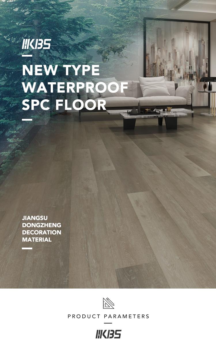 100% 방수 욕실 비닐 SPC 바닥재 상업용 어플리케이션에