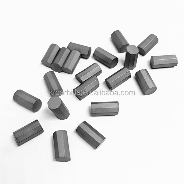 Customized Cemented Carbide Octagonal Insert Tip For Mining Purpose