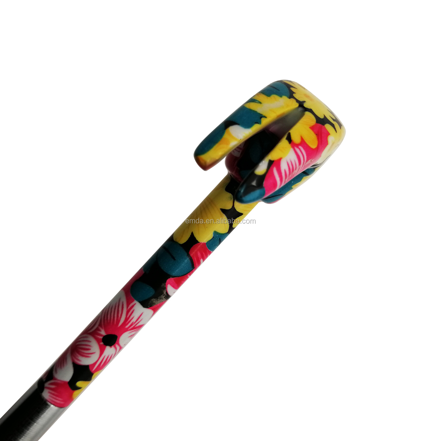 Fancy floral design all metal multifunctional  5 in 1 floral printed mini claw hammer with screwdriver for lady
