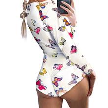 Сексуальный комбинезон, пижама, Короткий комбинезон, одежда для сна, короткий комбинезон, облегающий, для взрослых женщин, полосатый принт, ...(Китай)