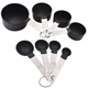 Best selling stainless steel handle PP plastic measuring spoon cup set